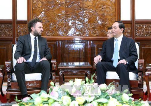 Le president Tran Dai Quang recoit de nouveaux ambassadeurs hinh anh 6