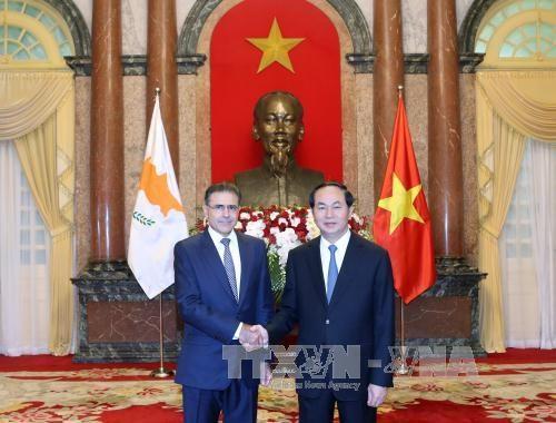 Le president Tran Dai Quang recoit de nouveaux ambassadeurs hinh anh 4