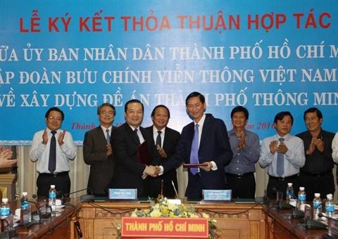 Ho Chi Minh-Ville et VNPT cooperent dans l'etablissement de la ville intelligente hinh anh 1