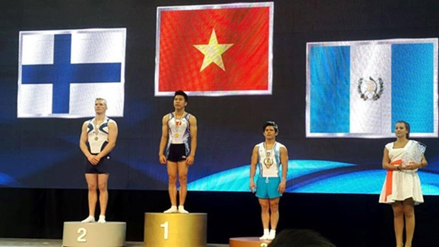 World Challenge Cup: les gymnastes vietnamiens gagnent deux medailles d'or hinh anh 1