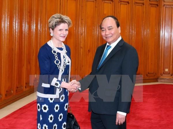 Le Premier ministre Nguyen Xuan Phuc plaide pour les liens de cooperation Vietnam-Suisse hinh anh 1