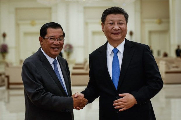 Chine et Cambodge signent 31 documents de cooperation hinh anh 1