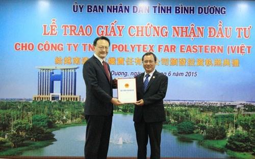 Le groupe taiwanais de textile Far Eastern souhaite etendre ses activites a Binh Duong hinh anh 1