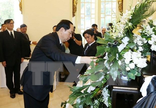 Tran Dai Quang rend hommage au roi Bhumibol Adulyadej de Thailande hinh anh 1
