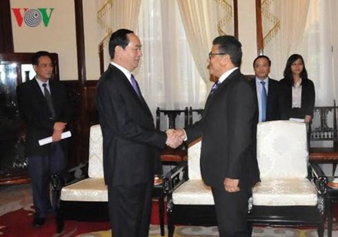 Le president Tran Dai Quang recoit l'ambassadeur palestinien hinh anh 1