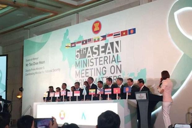 Le Vietnam coopere etroitement avec l'ASEAN dans la lutte contre la drogue hinh anh 1