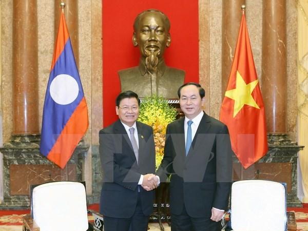 Le president vietnamien recoit le PM laotien hinh anh 1