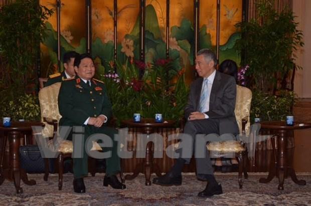 Vietnam-Singapour : Renforcement de la cooperation dans la defense hinh anh 1