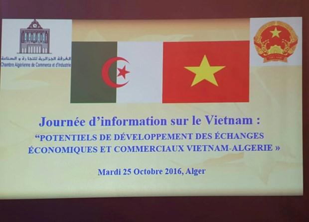 Promotion de cooperation economique Vietnam-Algerie hinh anh 1