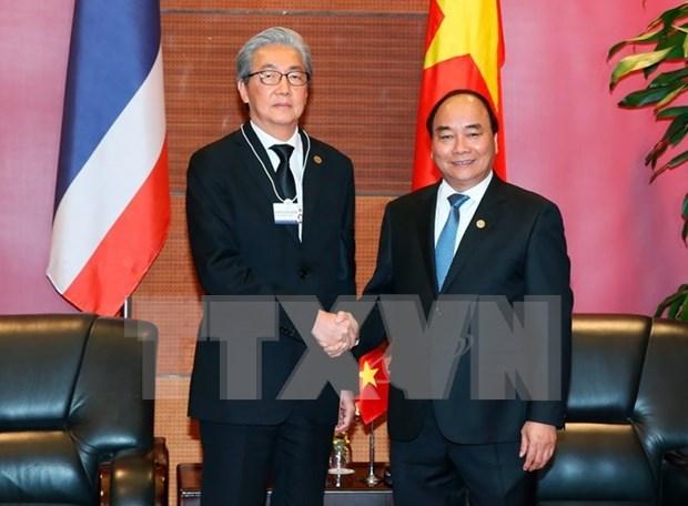 Le PM vietnamien recoit le vice-PM thailandais en marge de l'ACMECS-7 hinh anh 1