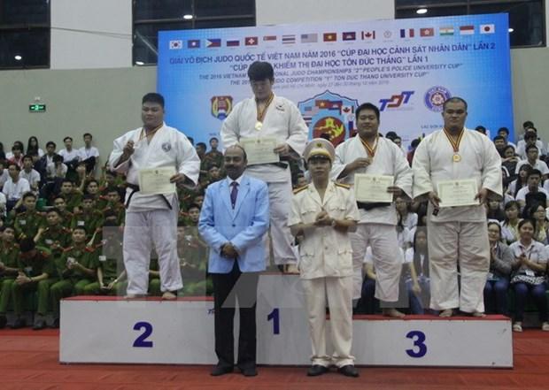 La R.de Coree en tete des Championnats internationaux de judo du Vietnam 2016 hinh anh 1