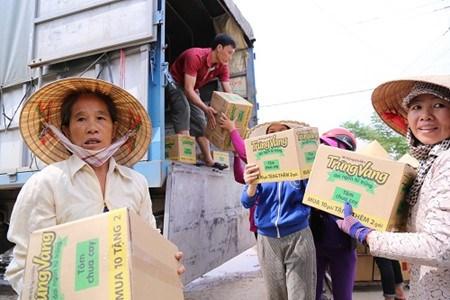 Quang Binh : apres les crues, l'entraide hinh anh 2