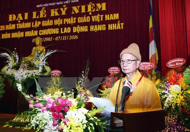 Celebration des 35 ans de la fondation de l'Eglise bouddhique du Vietnam hinh anh 1