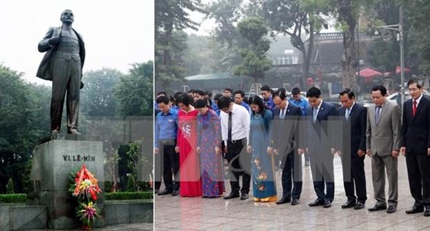 Hanoi : commemoration du 99e anniversaire de la Revolution d'Octobre russe hinh anh 1