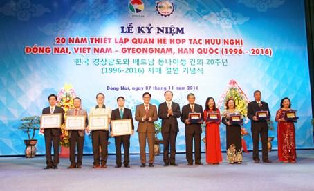 Celebration du 20e anniversaire des relations Dong Nai – Gyeongnam (R. de Coree) hinh anh 1