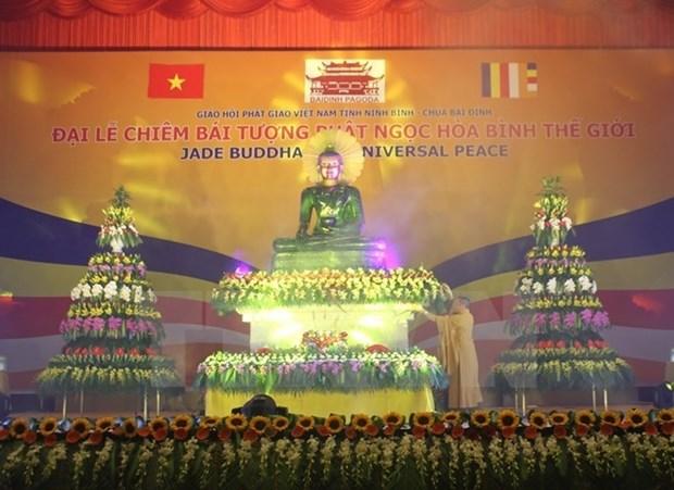 Binh Duong accueille la statue du Bouddha de Jade pour la paix universelle hinh anh 1