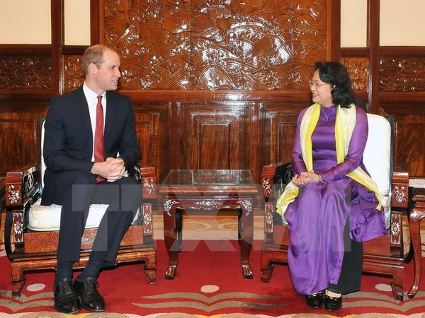 La vice-presidente du Vietnam recoit le Prince britannique William hinh anh 1