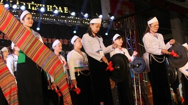 Ouverture de la fete de la culture des gongs a Hoa Binh hinh anh 1