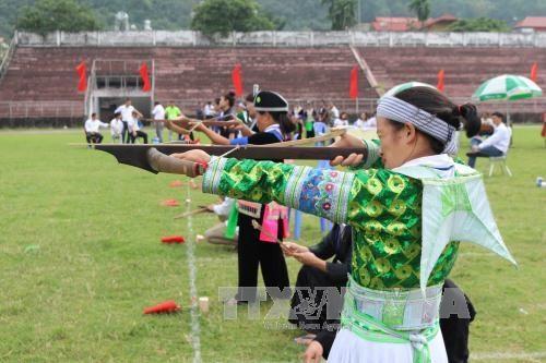 Ouverture de la Journee nationale de la culture de l'ethnie H'mong a Ha Giang hinh anh 1