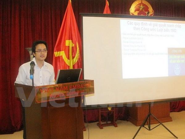 Des residents vietnamiens en Malaisie discutent de la question de la Mer Orientale hinh anh 1