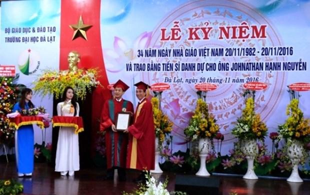 Un Viet kieu devient docteur honoris causa de l'Universite de Da Lat hinh anh 1
