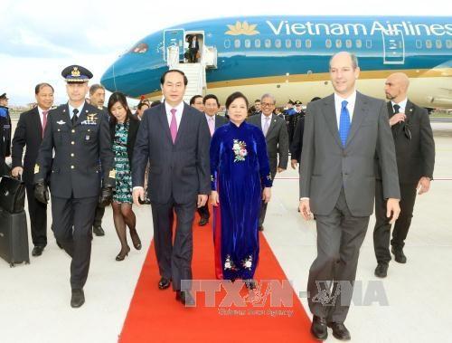 Le president Tran Dai Quang entame sa visite d'Etat en Italie hinh anh 1