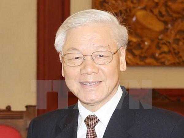 Le secretaire general du PCV Nguyen Phu Trong part pour le Laos hinh anh 1