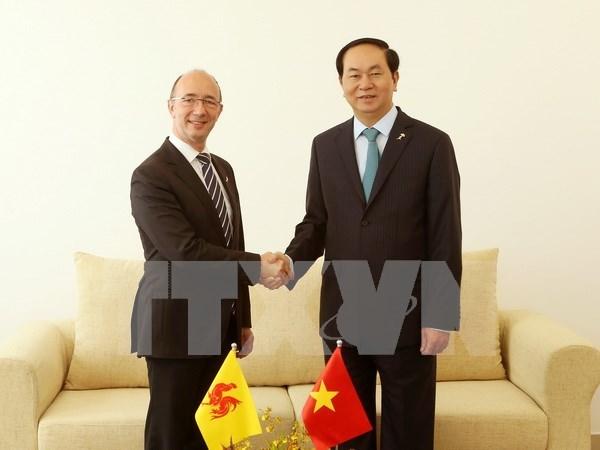Francophonie: le president rencontre des responsables belge et egyptien hinh anh 1