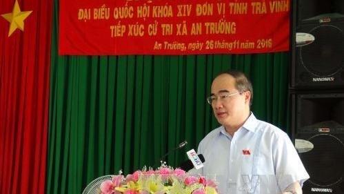 Le President du Front de la Patrie du Vietnam rencontre l'electorat a Tra Vinh hinh anh 1