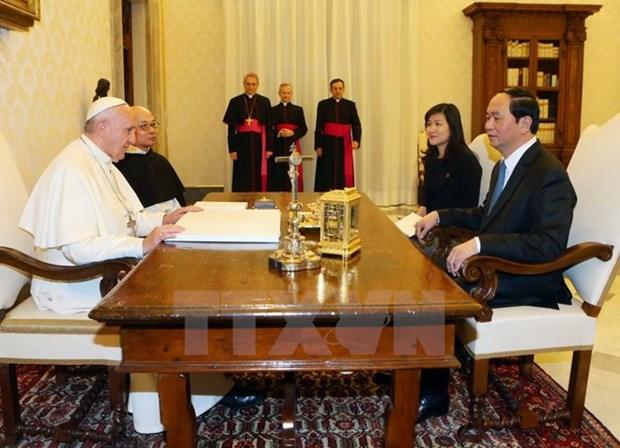 La visite d'Etat du president Tran Dai Quang en Italie couronnee de succes hinh anh 2