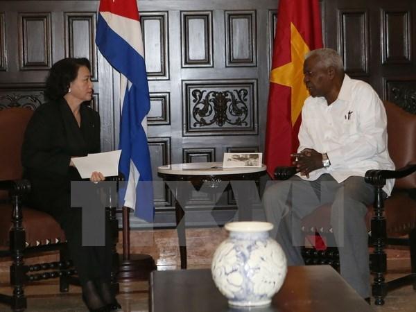 Activites de la presidente de l'Assemblee nationale a Cuba hinh anh 1