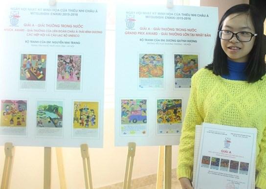 Remise des prix du concours d'illustration Mitsubishi Enikki 2015-2016 hinh anh 1