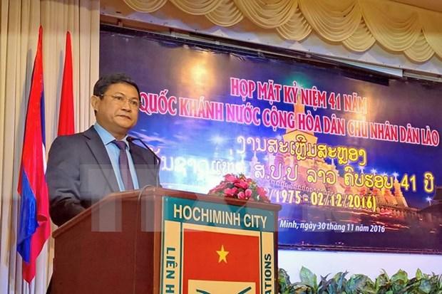 Felicitations du Vietnam pour la Fete nationale du Laos hinh anh 1