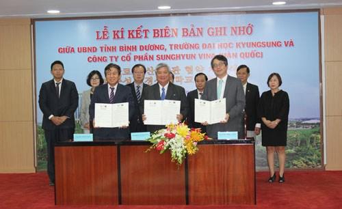 Binh Duong et Dong Nai cooperent avec la R. de Coree dans la formation des ressources humaines hinh anh 1