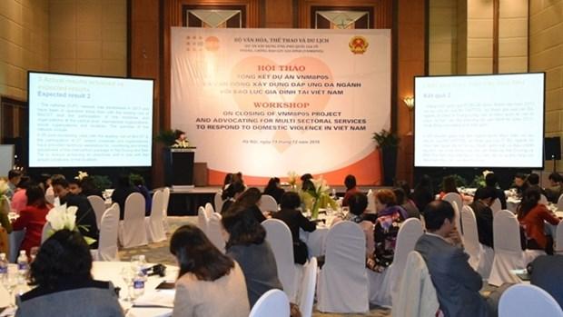 Conference sur l'Elaboration des services multisectoriels afin de traiter la violence familiale hinh anh 1