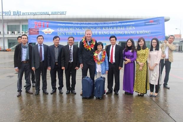 Thua Thien-Hue accueille ses premiers touristes etrangers de l'annee 2017 hinh anh 1