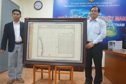 Une nouvelle carte precieuse sur Hoang Sa hinh anh 1