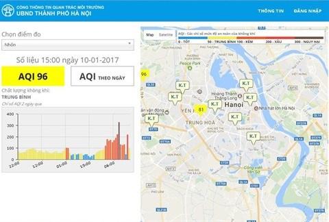Hanoi inaugure un site sur la qualite de l'air et la pluviosite hinh anh 1