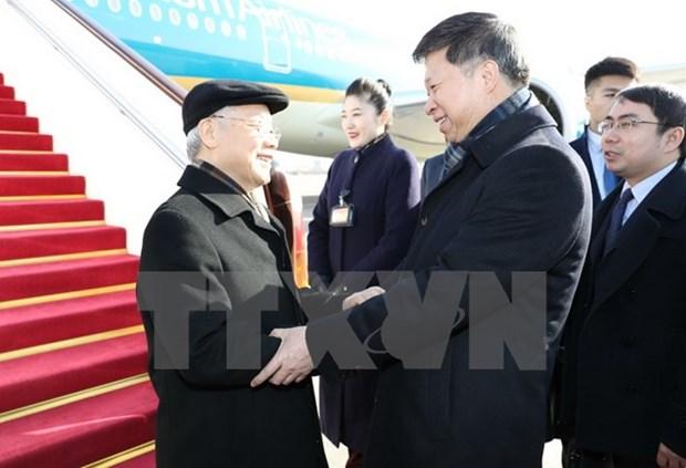 Le secretaire general du PCV Nguyen Phu Trong en visite officielle en Chine hinh anh 1