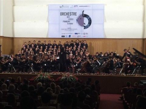 Concert de l'Orchestre des lycees francais du monde a Ho Chi Minh-Ville hinh anh 1