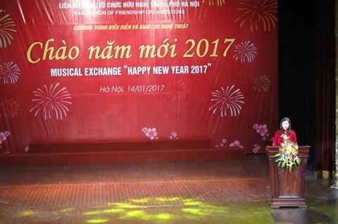 Hanoi: Un spectacle musical pour saluer le Nouvel An 2017 hinh anh 1