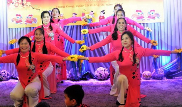 Les Vietnamiens a l'etranger fetent le Tet traditionnel de l'Annee du Coq 2017 hinh anh 1