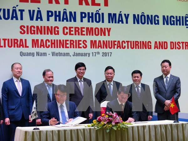 Vietnam et R. de Coree : cooperation dans la production de machines agricoles hinh anh 1