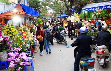 Les marches aux fleurs de Hanoi hinh anh 5