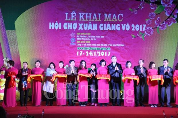 Ouverture de la Foire printaniere 2017 de Hanoi hinh anh 1