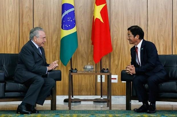 Vietnam et Bresil souhaitent intensifier leur partenariat integral hinh anh 1