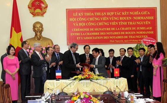 Notariat : Thai Nguyen etablit un jumelage avec Rouen (France) hinh anh 1