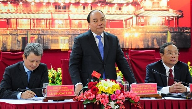 Le PM Nguyen Xuan Phuc formule ses voeux du Tet a Thua Thien-Hue hinh anh 1