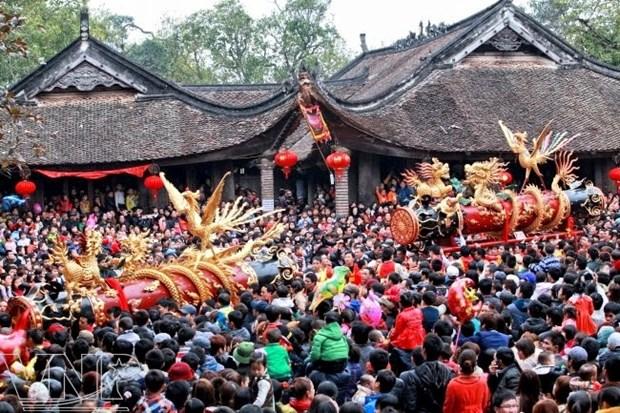 La fete de la procession des petards du village de Dong Ky attire les foules hinh anh 1