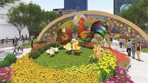 A Ho Chi Minh-Ville, la rue florale Nguyen Hue sera ouverte jusqu'au 1er fevrier hinh anh 1